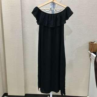 Zalora off shoulder dress with slit