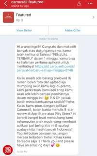 a warm welcome from carousell😍