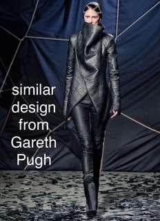 Gareth Pugh black leather biker jacket