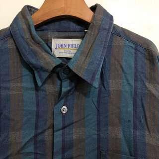 GV 古著 神秘格藍 復古襯衫