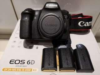 Canon 6D with 3 battery