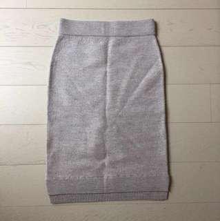 Club Monaco XS Grey Wool Skirt