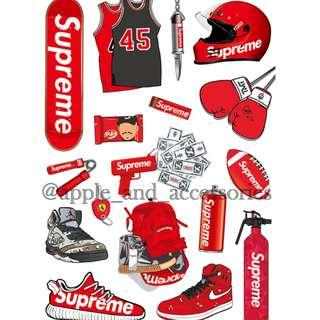 A4 size Supreme Stickers (Recommended on Laptop & Luggage)