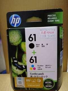 Original HP Ink Cartridge 61 (Unopened Black & Tri Colour)