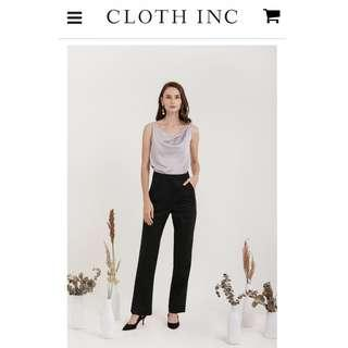 Slit pants (celana bahan hitam) by Cloth inc