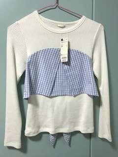 BN Out of Stock Uniqlo GU Woman's Long Sleeved white shirt winter design