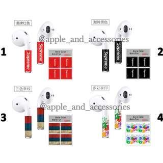 Airpods Stickers (Supreme)