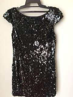 Little black sequinned party dress