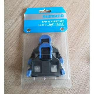BRAND NEW IN PACKAGING Shimano SPD SL SM-SH12 Blue Cleats