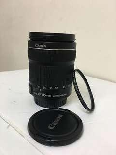 Canon 18-135mm lens !  Very good condition!