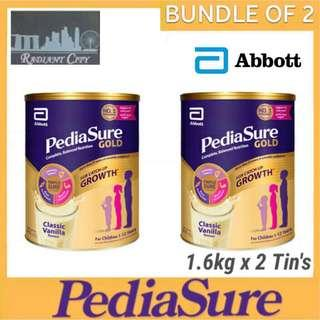 [PROMOTION] PEDIASURE GOLD VANILLA 1.6kg [BUNDLE OF 2] MADE IN SINGAPORE FOR SINGAPORE 🇸🇬 Item same as sold in local supermarkets