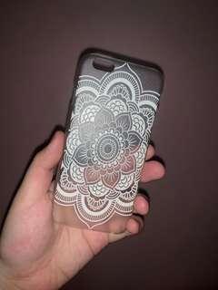 Iphone 6 hard phone case white mandala