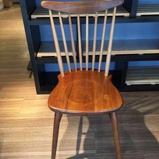復古風木質椅