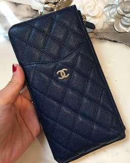 Chanel Classic Zip Pouch with Handphone Compartment (A81598)
