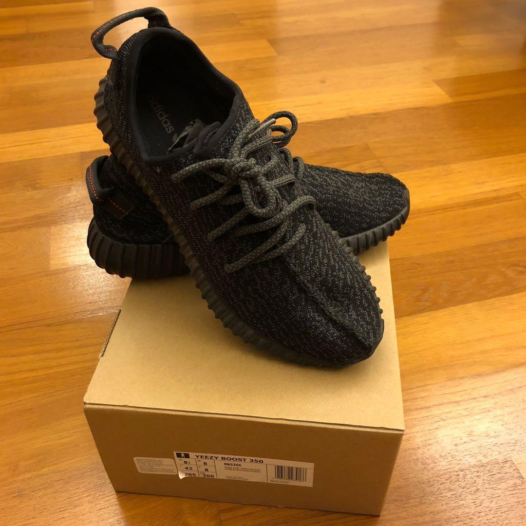 """485099c5af82c Adidas Yeezy Boost 350 """"Pirate Black"""" V1 - Size 8UK 8.5US"""