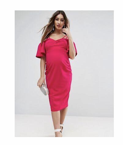 0f5abc480b6 ASOS Hot Pink Maternity Dress