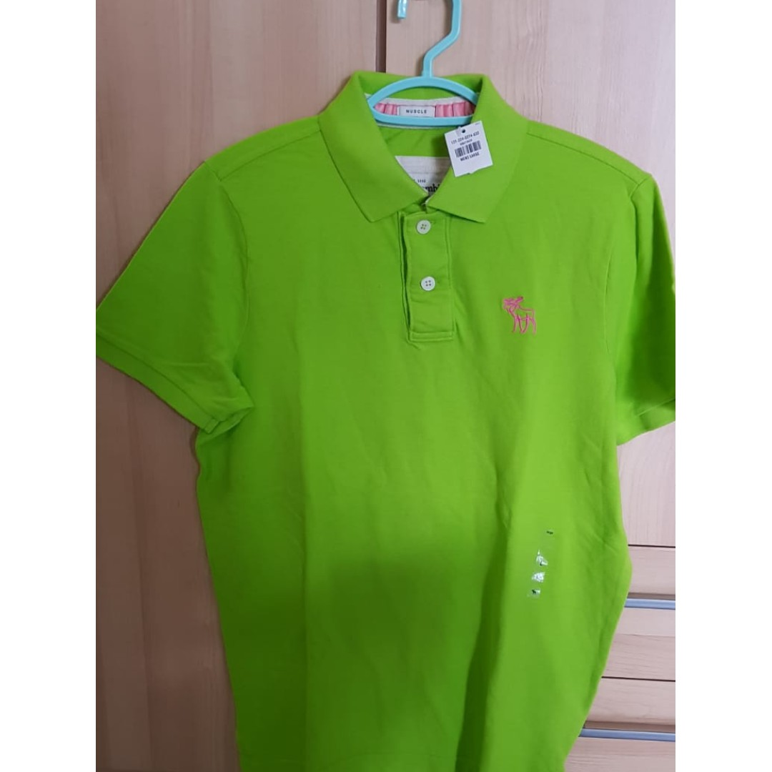 3f3b51a06d1 Authentic Abercrombie & Fitch Green Polo Tee Green., Men's Fashion ...