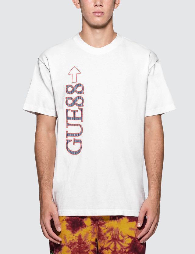48b0f96edd46 Authentic Guess x 88 Rising Gue88 Tri Logo Tee White, Men's Fashion ...