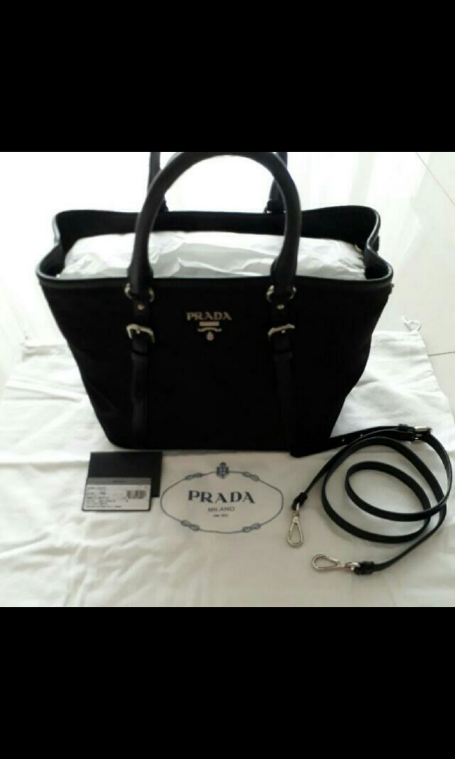 503feaafb9b2 Authentic Prada Tessuto Nero Bag, Luxury, Bags & Wallets, Handbags ...