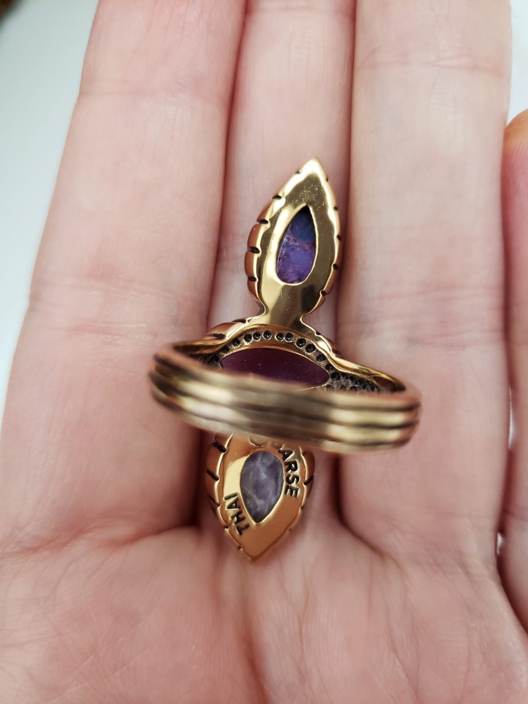 Barse threefold statement ring genuine stones size 7 NIB!