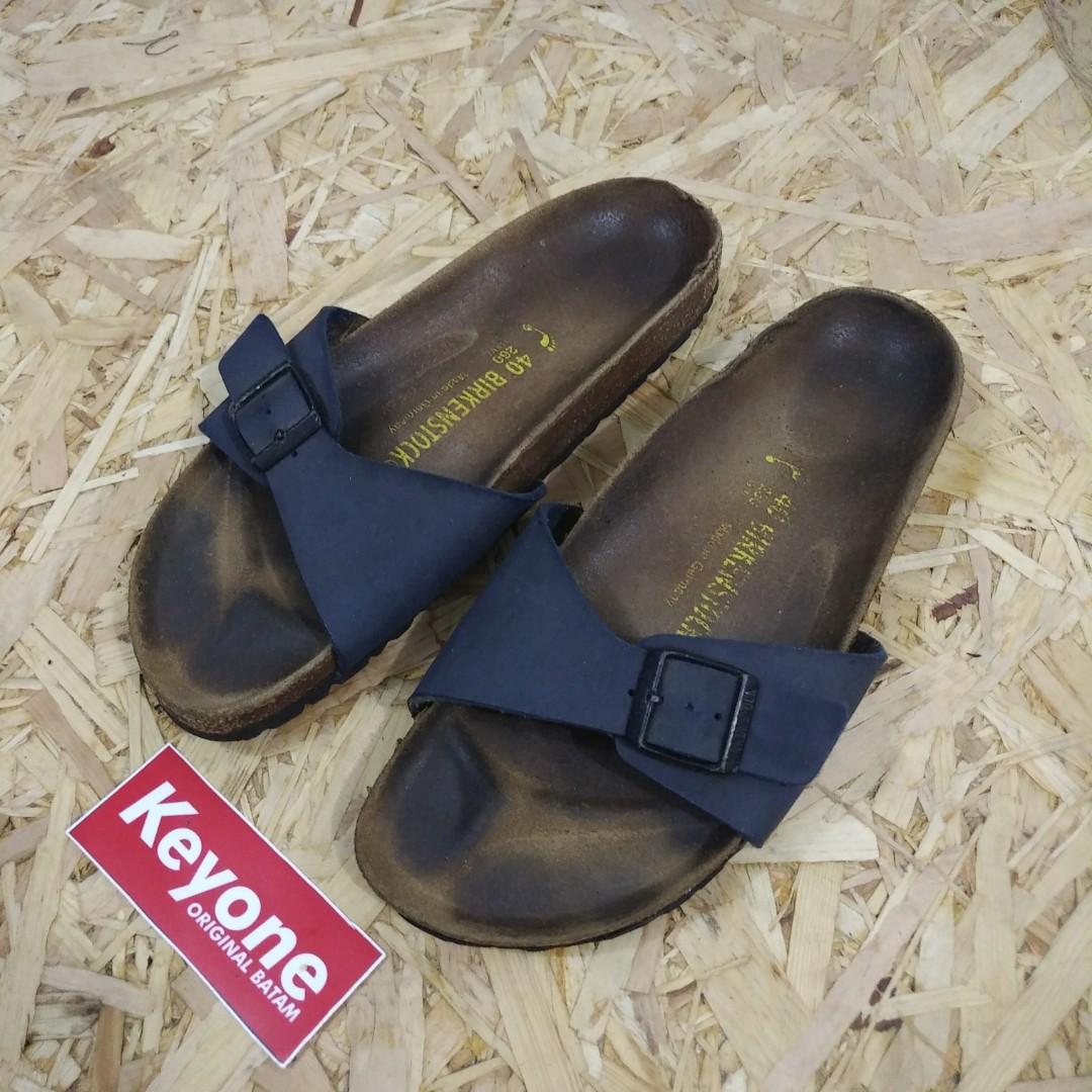 Birkenstock Madrid Navy Leather Sandals original fbc88c1569