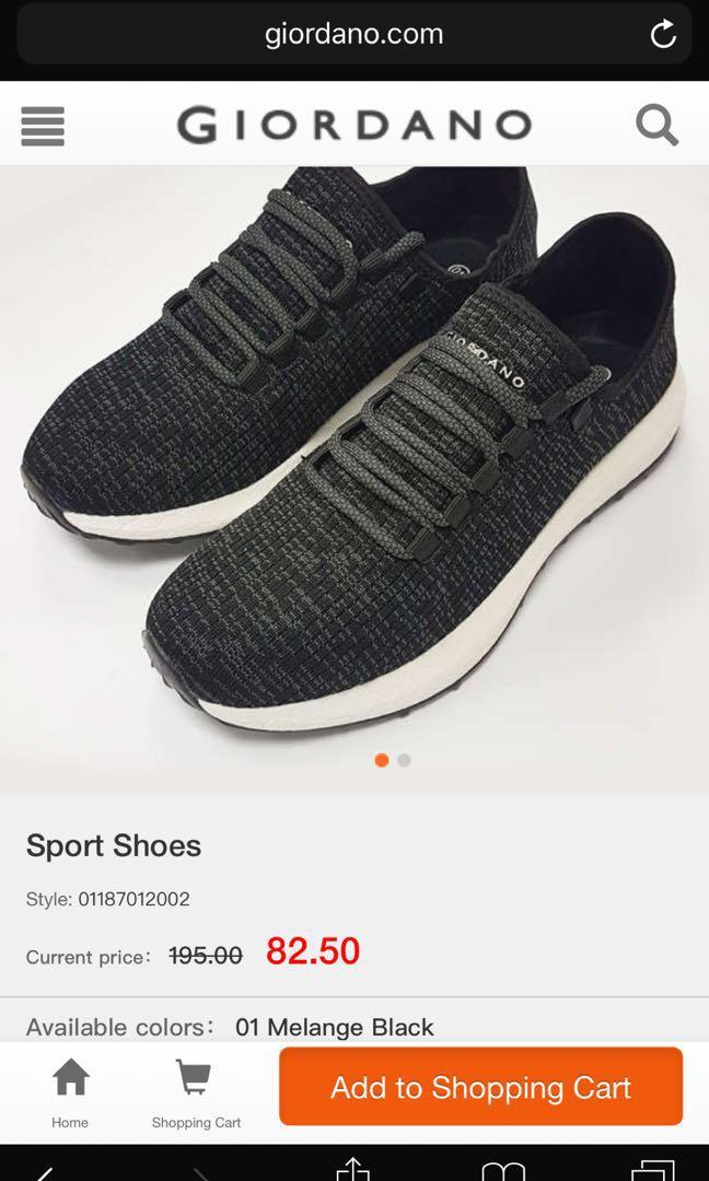 BNIB Giordano knit sport shoes (melange