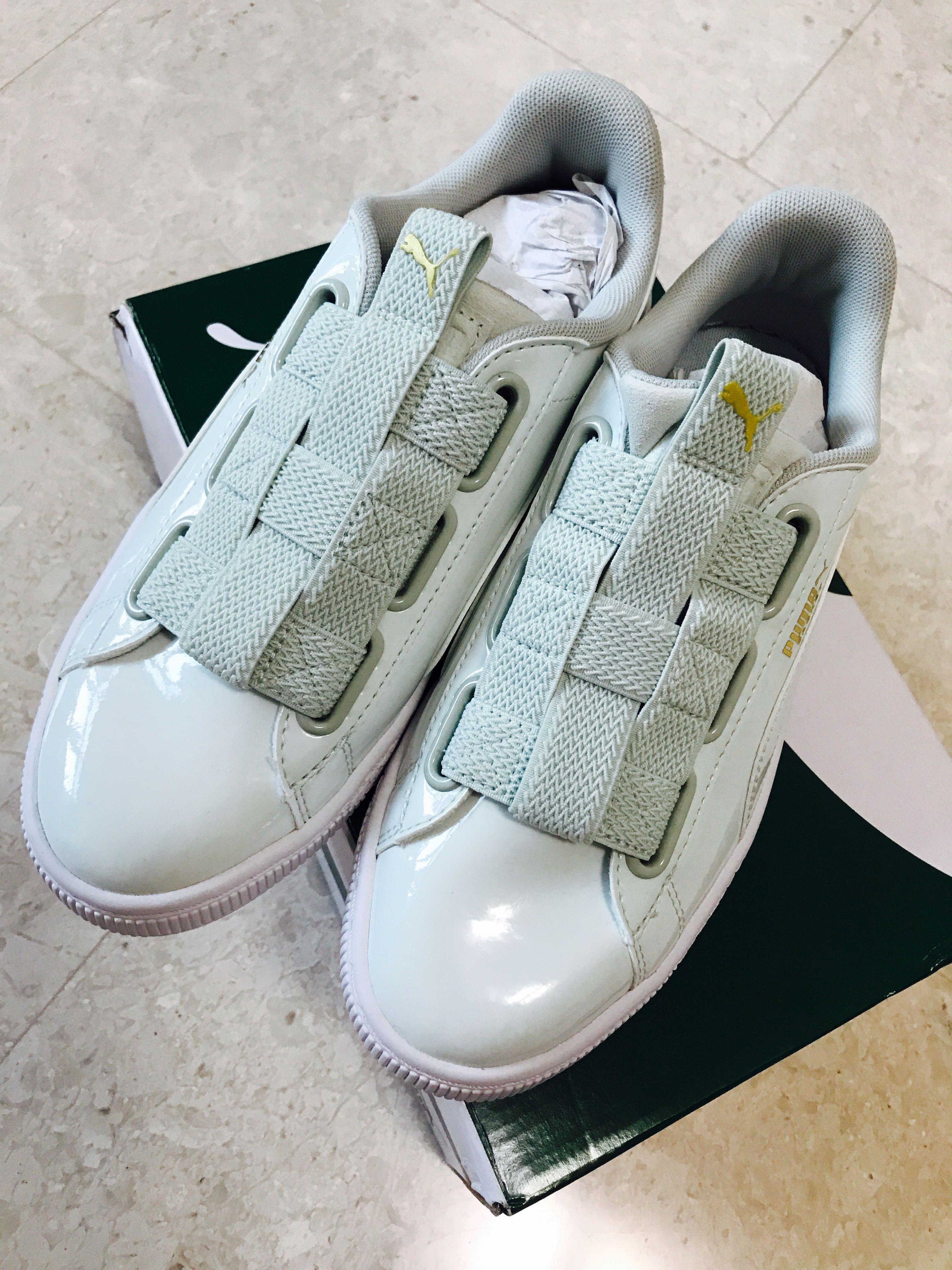5c6bde6d20b0 Brand New Authentic Latest PUMA Basket Maze Women Sneakers - Blue Flower  Puma White (More like light mint colour) Size US 7 EU37.5