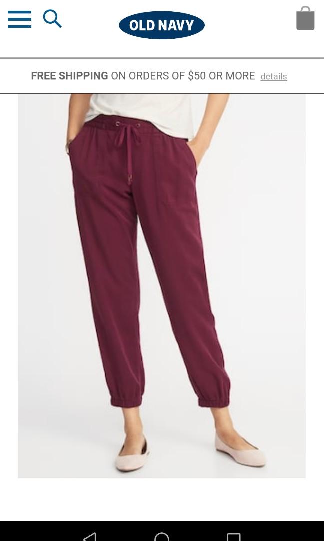 d58f49f31d416 Brand new Old Navy mid-rise soft twill joggers, Women's Fashion ...