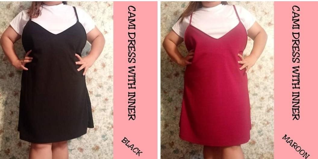 Cami Dress with inner. T shirt dress Plus size 4XL Ptp 58CM-66CM ...