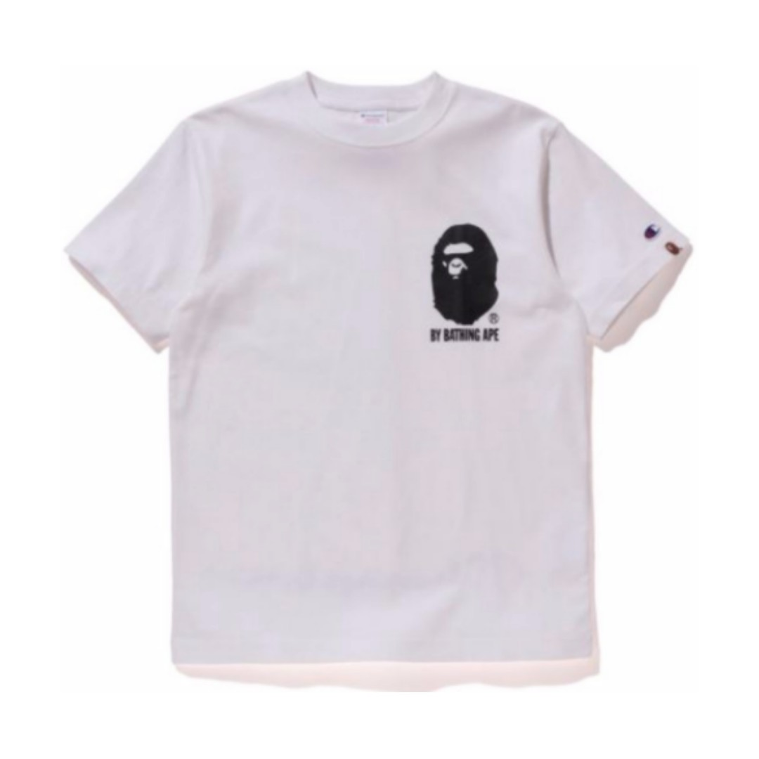 9fc039f6 Champion x Bape Tee White Size L, Men's Fashion, Clothes, Tops on ...