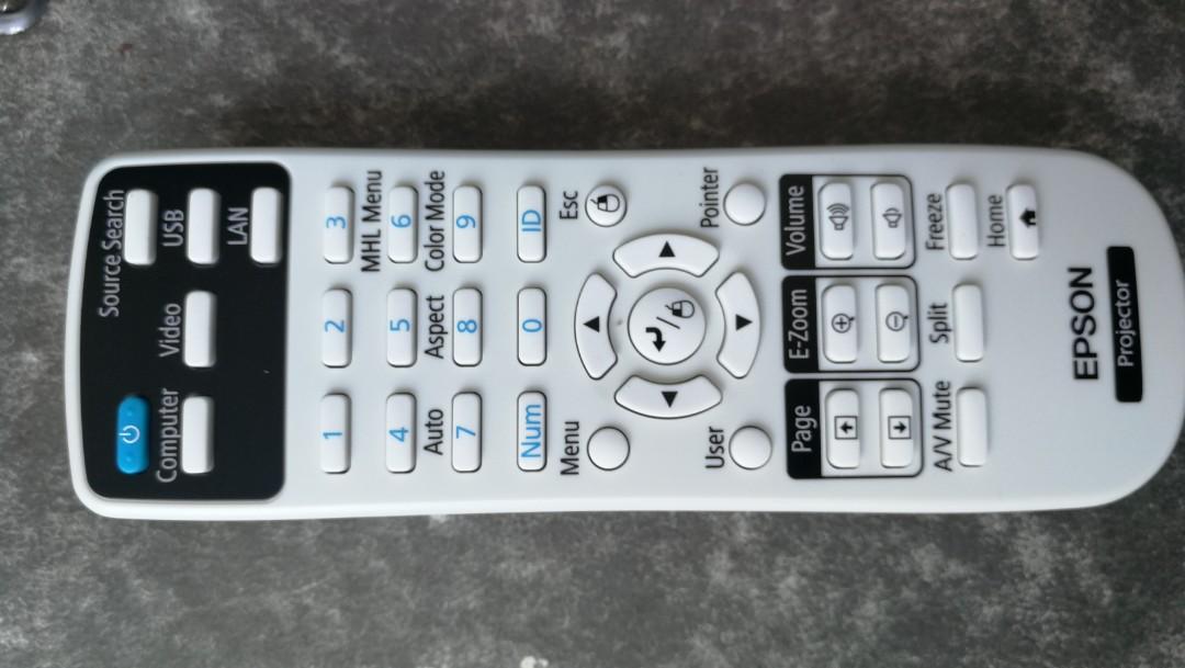 Epson EB-S31 Projector remote control