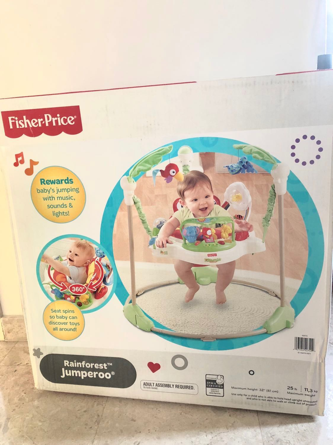 447882d5b Fisher Price Rainforest Jumperoo(with box)