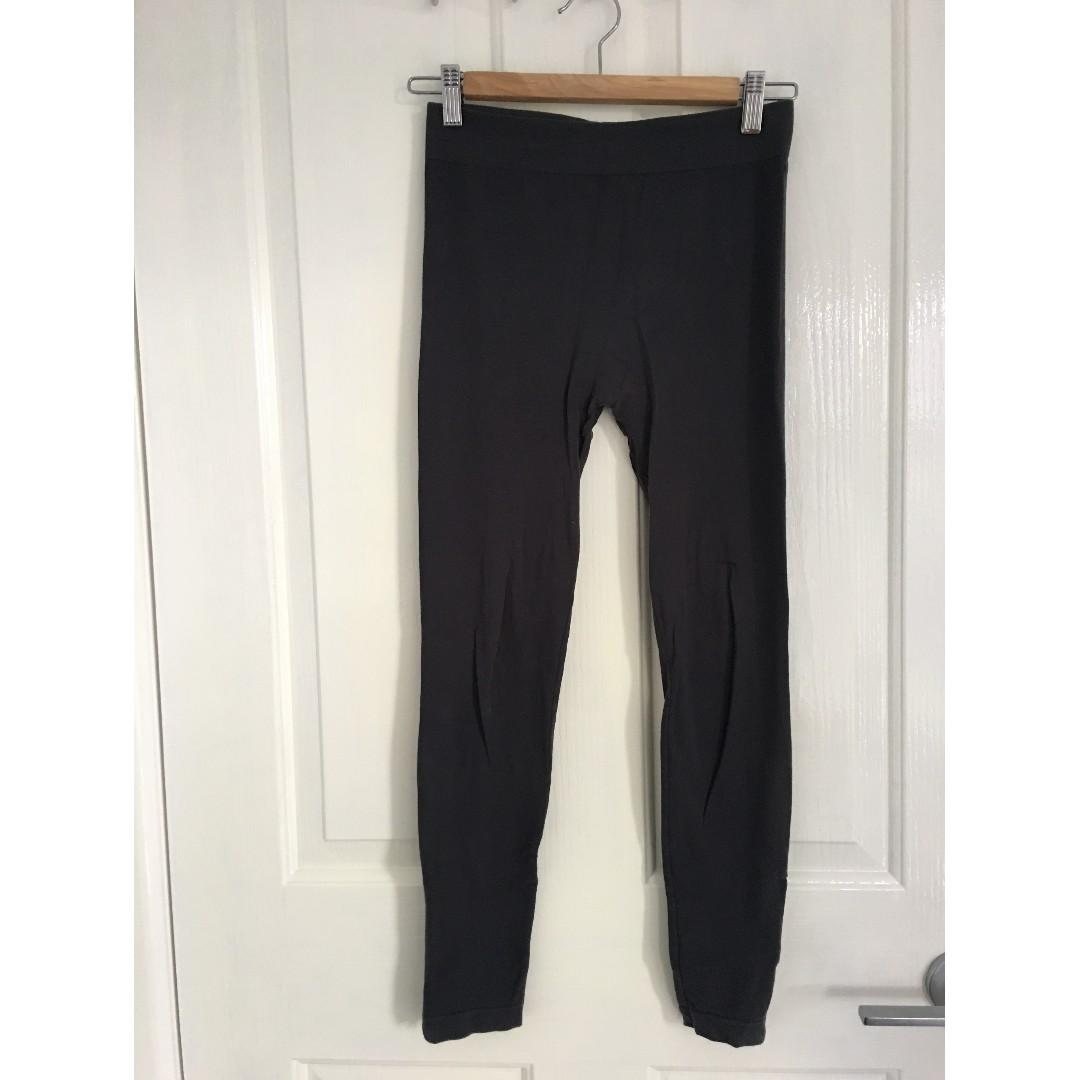 Forever 21 Grey leggings. Zip ankles. Size Small.