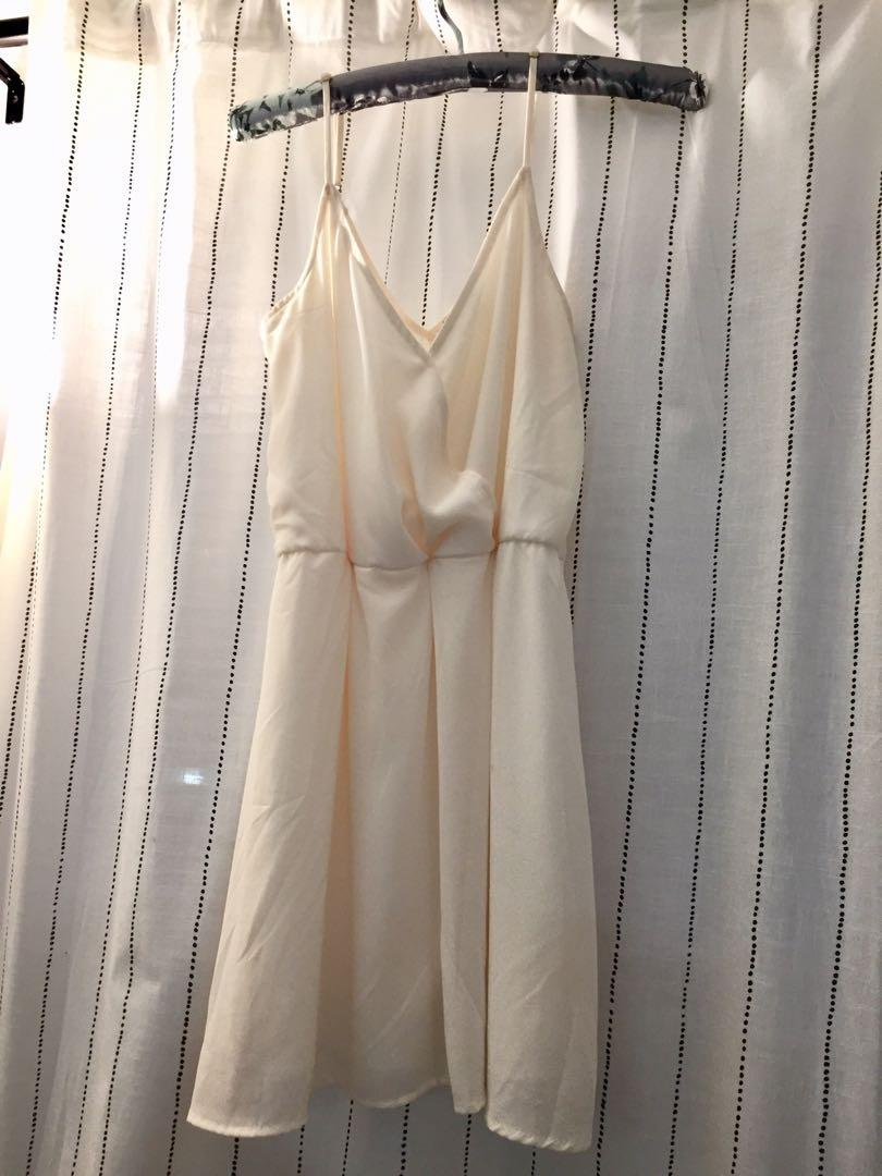 Forever 21 Strappy Cinched Waist Dress - size S