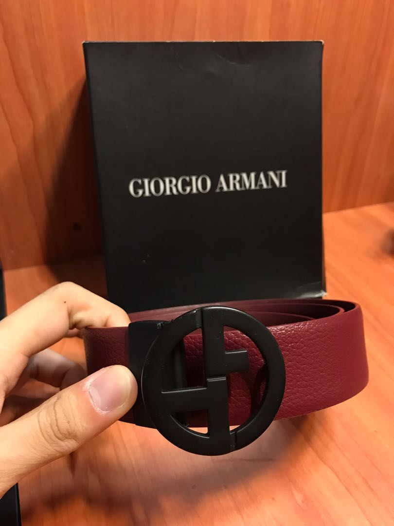 Giorgio Armani Micro Pattern Leather Belt 3e14abd0215d3