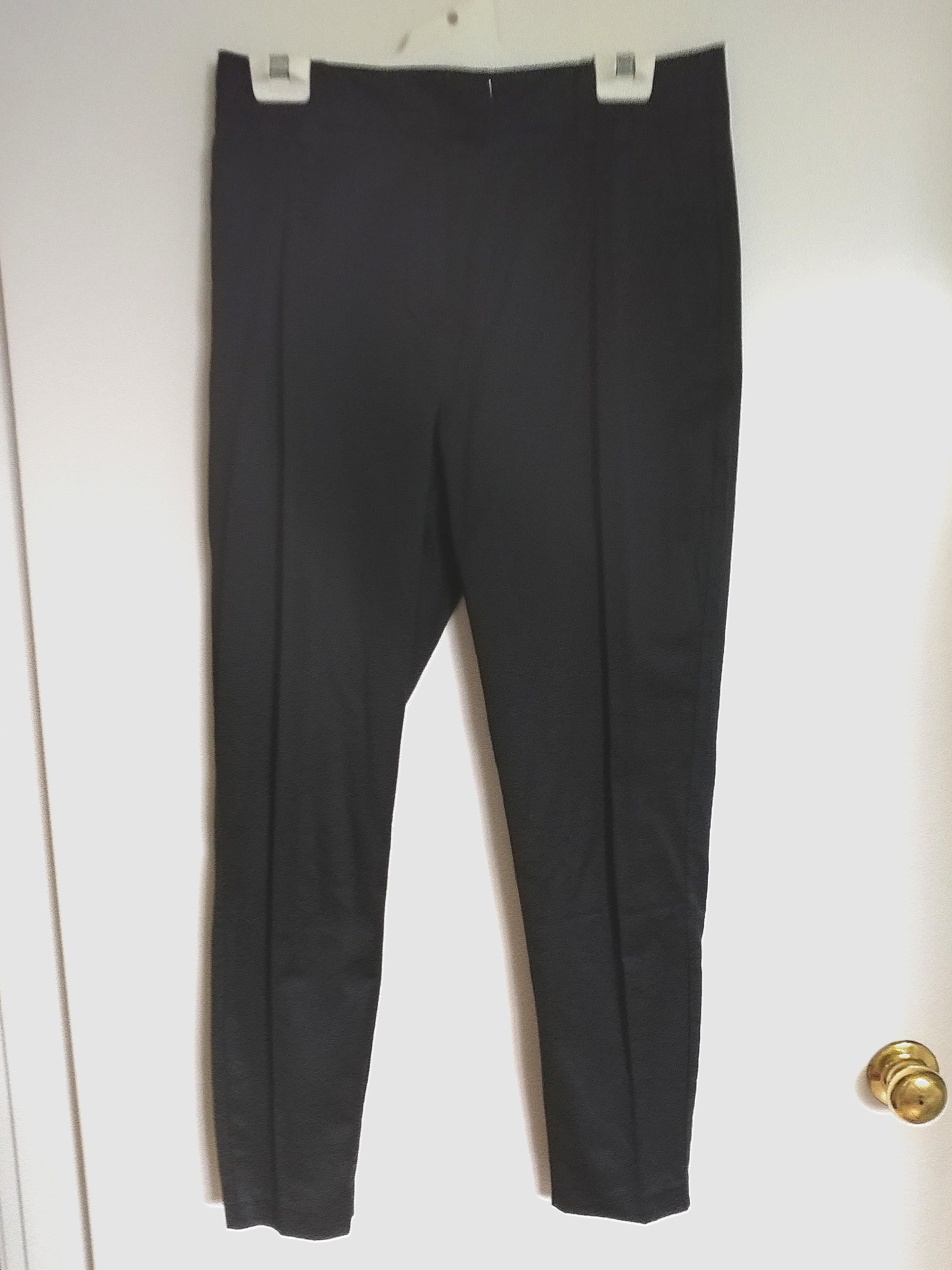 Grace Hill Slim Black Satin Office Pants AU10