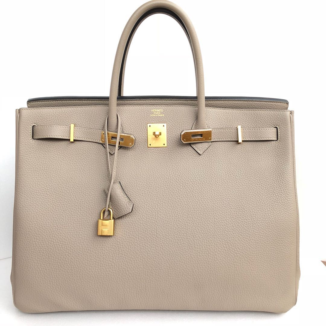 a7e70809e0 Hermes - Gris Tourterelle Birkin 40 in Togo with GHW, Luxury, Bags ...