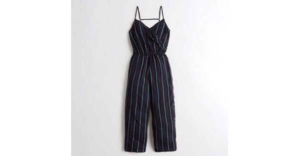 f3a40c7773b Hollister Wrap Front Crop Wide Leg Jumpsuit