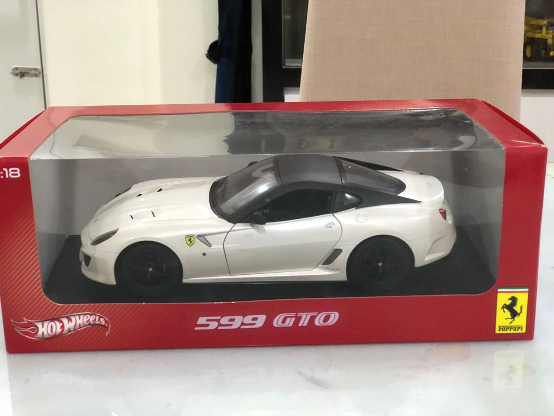Hotwheels 1 18 Ferrari 599 Gto Pearl White Toys Games Others On Carousell