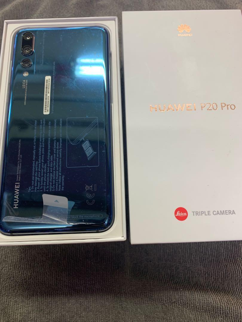 Huawei P20 pro blue 2 months old, Mobile Phones & Tablets