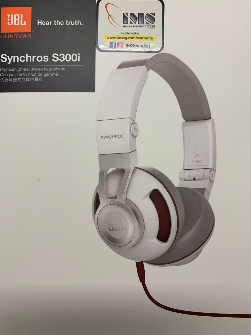 96fe63ecd1a JBL synchros S300i premium on ear stereo headphone, Electronics, Audio on  Carousell