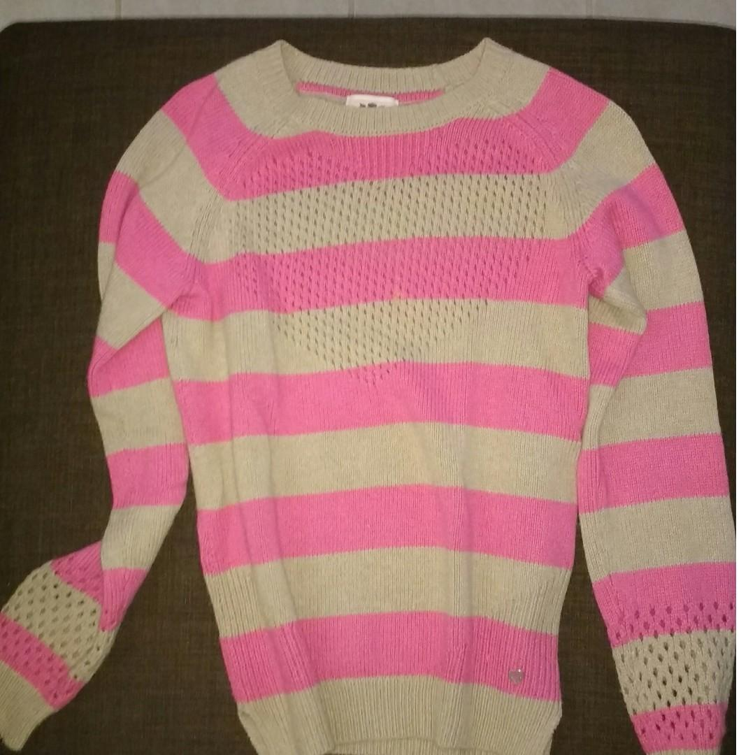 Juicy Couture striped sweater tunic xl