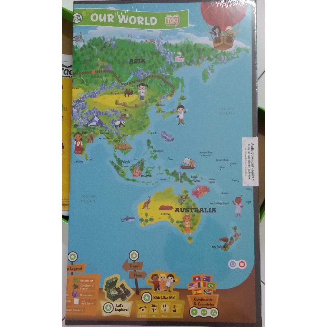 Leapfrog Reading Sysytem Leapreader Interactive World Map Books