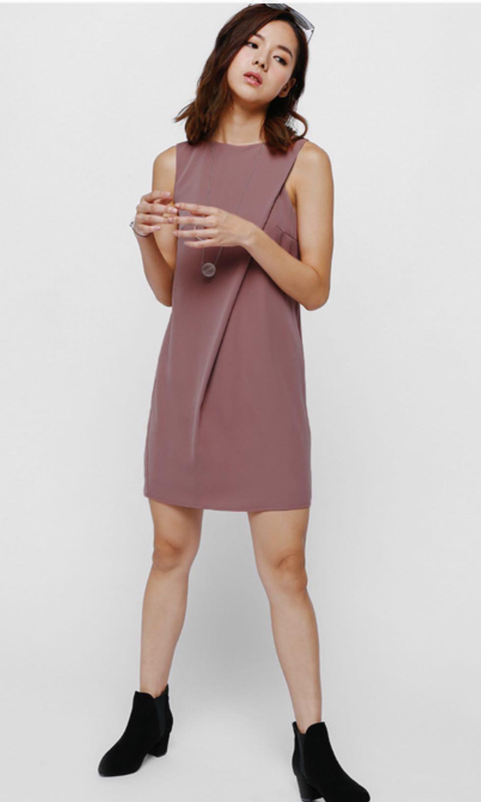 2d673b1cf3b Lovebonito Mejika Foldover Dress in Dark Rose