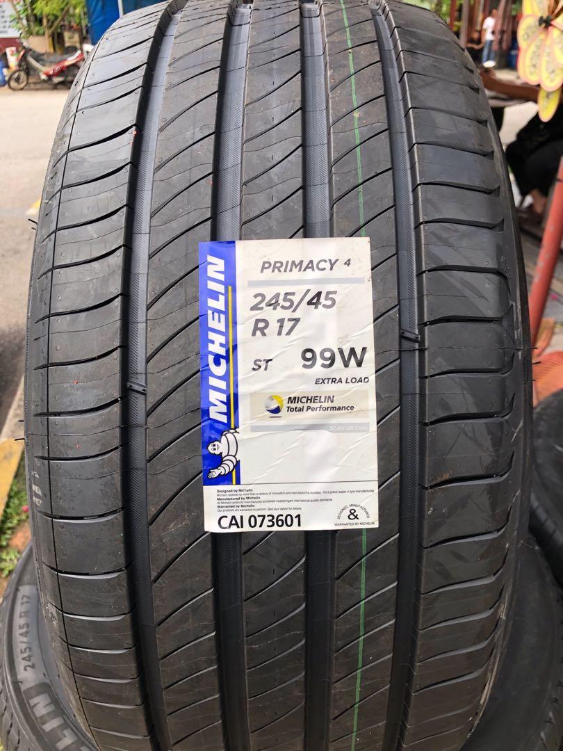 Michelin Primacy 4 245 45 17 Brand New Tyre Car