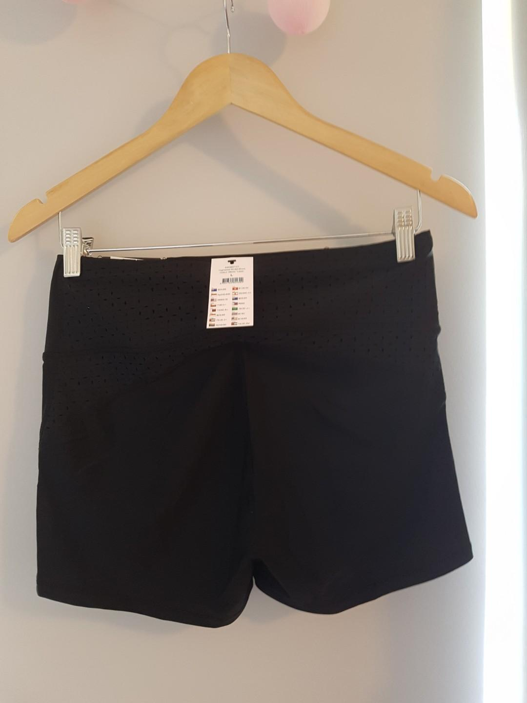 New With Tags Black Sports Active High Waisted Shorts Cotton On Body Sz Large