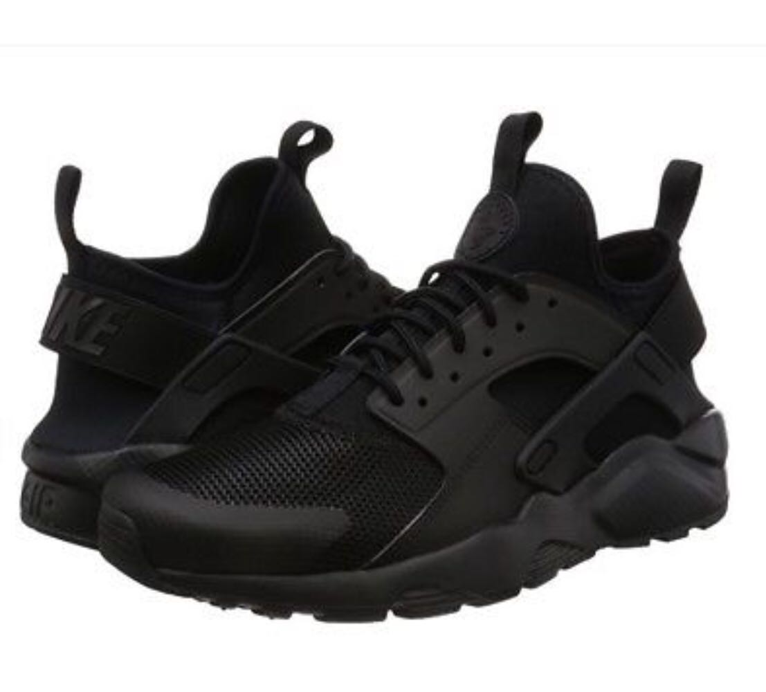 competitive price 9373f d0c3d Nike Air Huarache Run Ultra Mens Running Shoes US14 Triple Black ...
