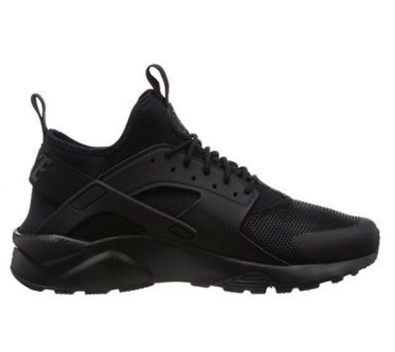 half off ddff0 cc48c Nike Air Huarache Run Ultra Mens Running Shoes US14 Triple Black 819685  002, Men s Fashion, Men s Footwear on Carousell