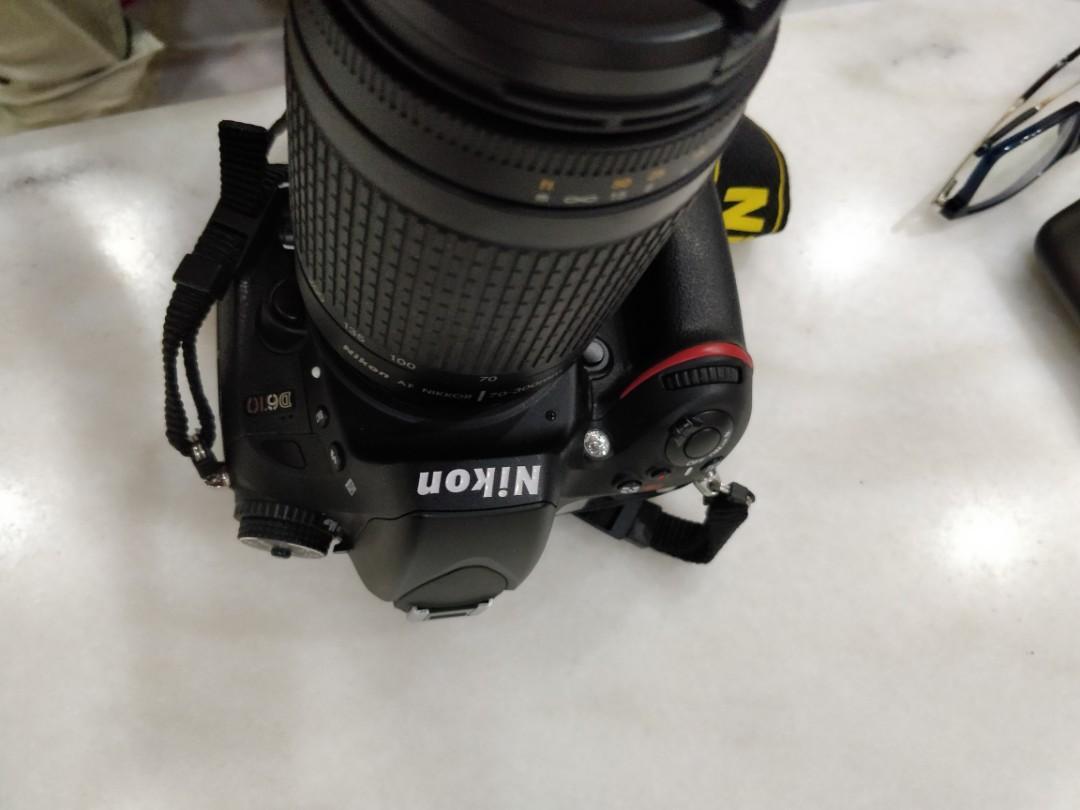 Nikon D610 with Nikkor AF Zoon lens 70-300 f 4 5/6