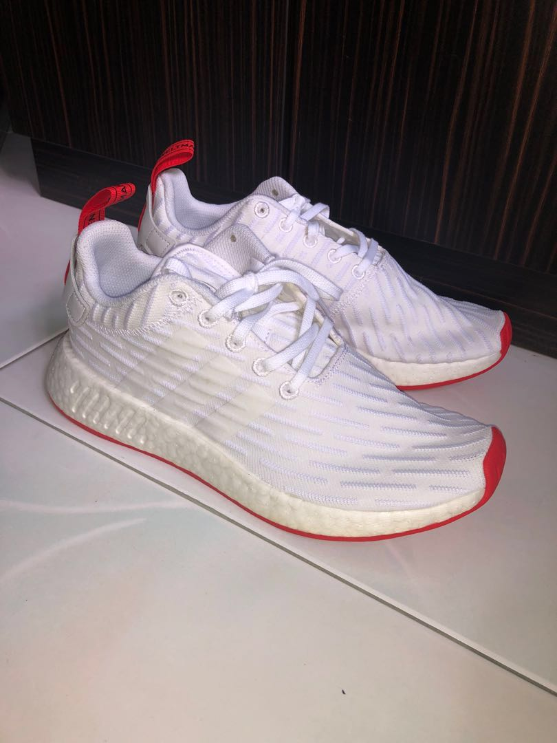 568b5f08b NMD R2 White Core red